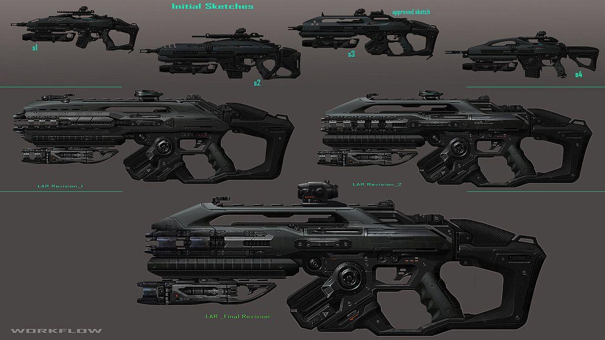 Assault Rifle_WorkFlow by DARKPALETTE