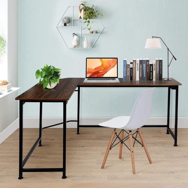 Wrought Studio Ari L-Shaped Computer Desk with Hutch | Home