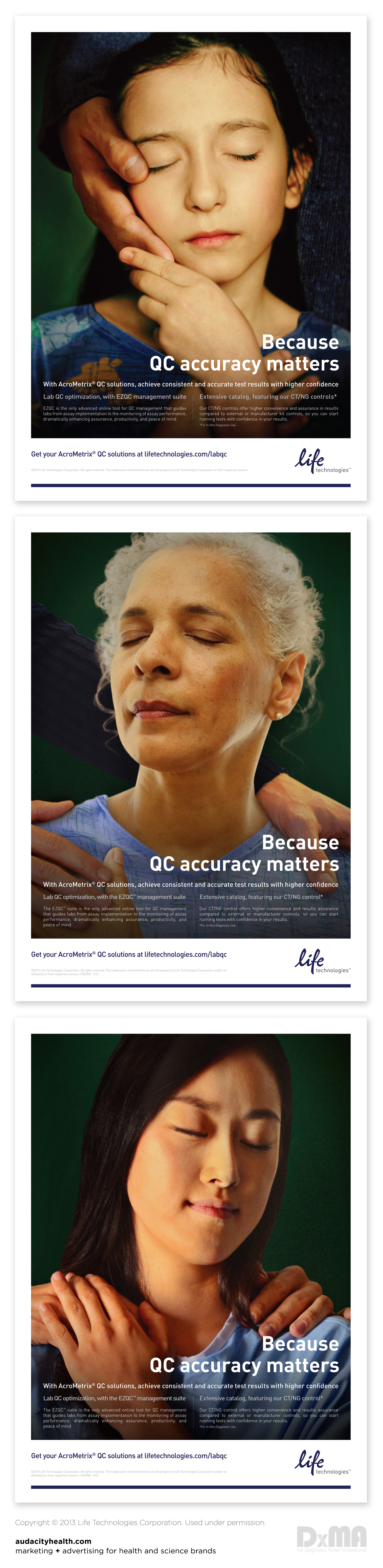 Award Winning Life Technologies Ad Campaign Executing An Integrated Launch For 3 New Acrometrix Products Launch Campaign Health Science Ad Campaign