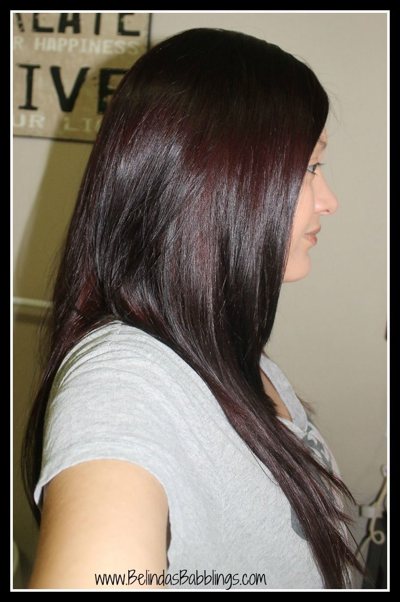 After Dying Revlon Colorsilk Hair Dye In Burgundy 48