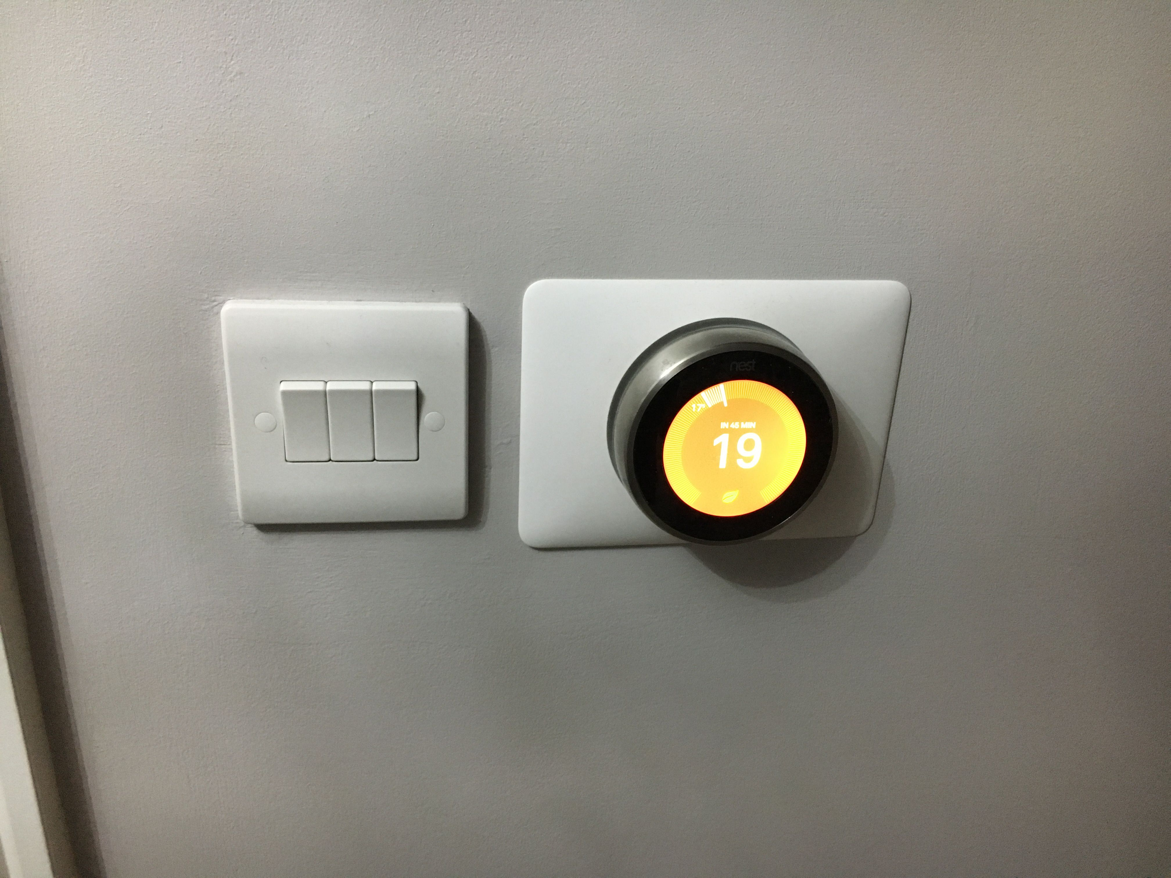 New 3-way light switch and Nest smart central heating installation ...