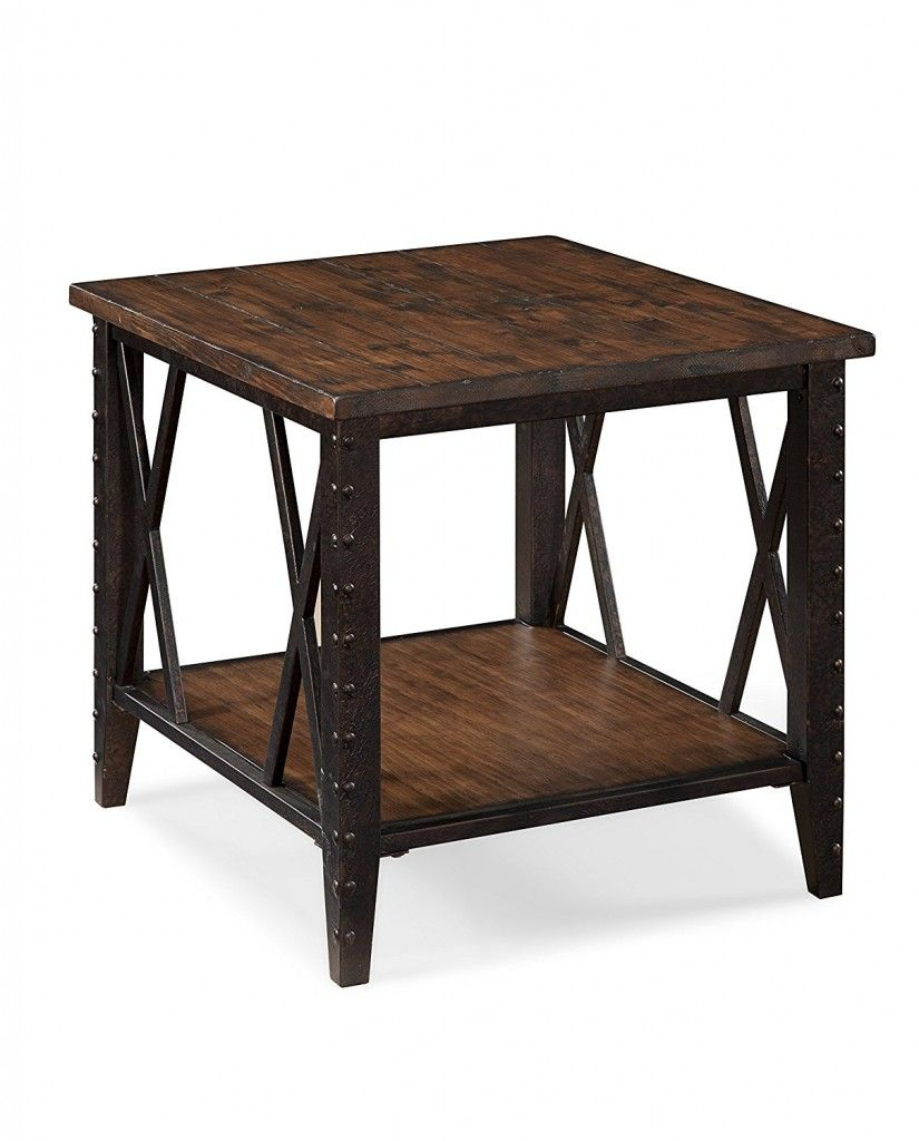 Rectangular end table wood and metal coffee tables and end tables