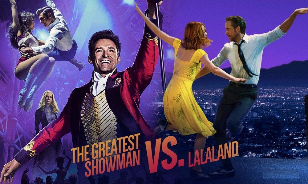 Image result for lalaland and the greatest showman