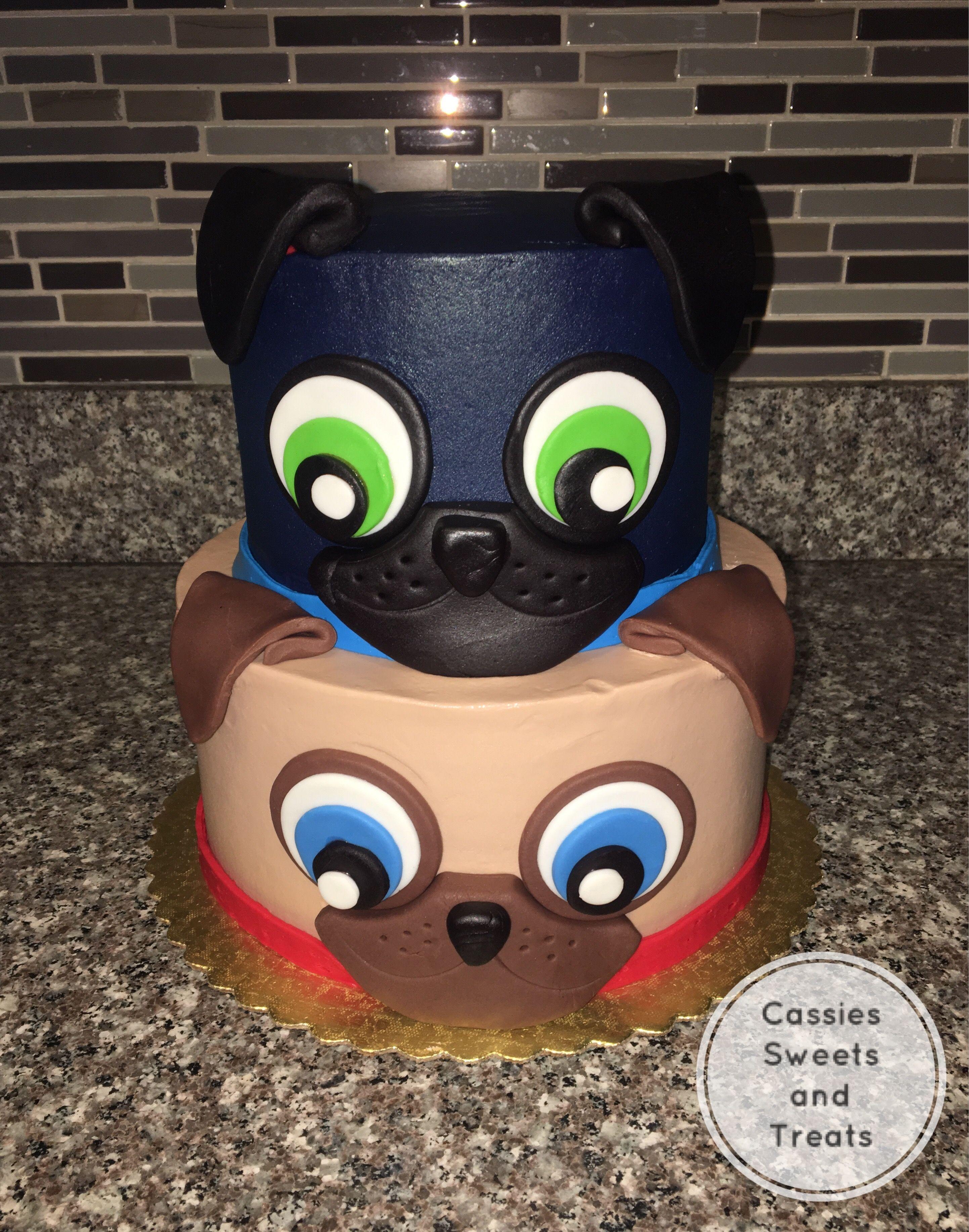 Buttercream Puppy Dog Pals Cake Puppy Birthday Parties Birthday