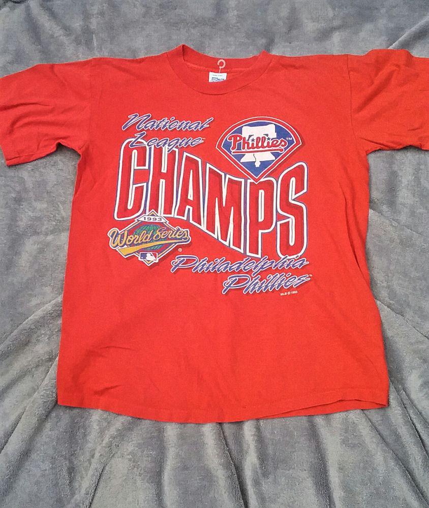 1ca68e77e Philadelphia Phillies 1993 National League Champs shirt Medium baseball   SalemSportswear  GraphicTee