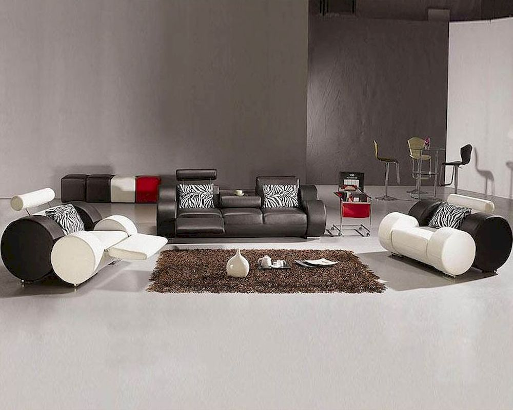 Best Cool Modern Black And White Leather Sofa Set Awesome 400 x 300
