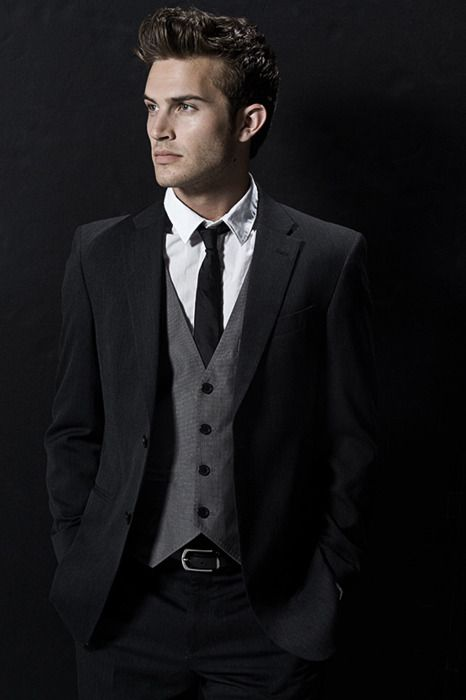 Dark grey waistcoat   black suit | Suits | Pinterest | To be, Dark