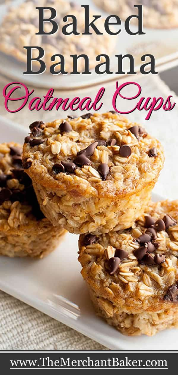 Baked Banana Oatmeal Cups Baked Banana Oatmeal Cups. A hearty and healthy oatmeal that you can make ahead. Baked in individual cups so they're easy to grab and go!