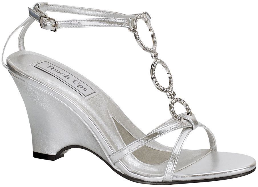 Silver Touch Ups Arlene Bridal Shoes 6399 Whether You Wear It In Or