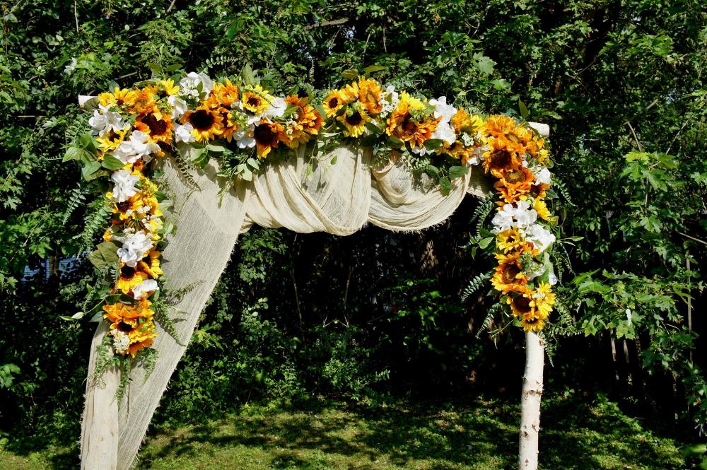 Wedding GarlandSunflower Swag Wedding Backdrop Wedding