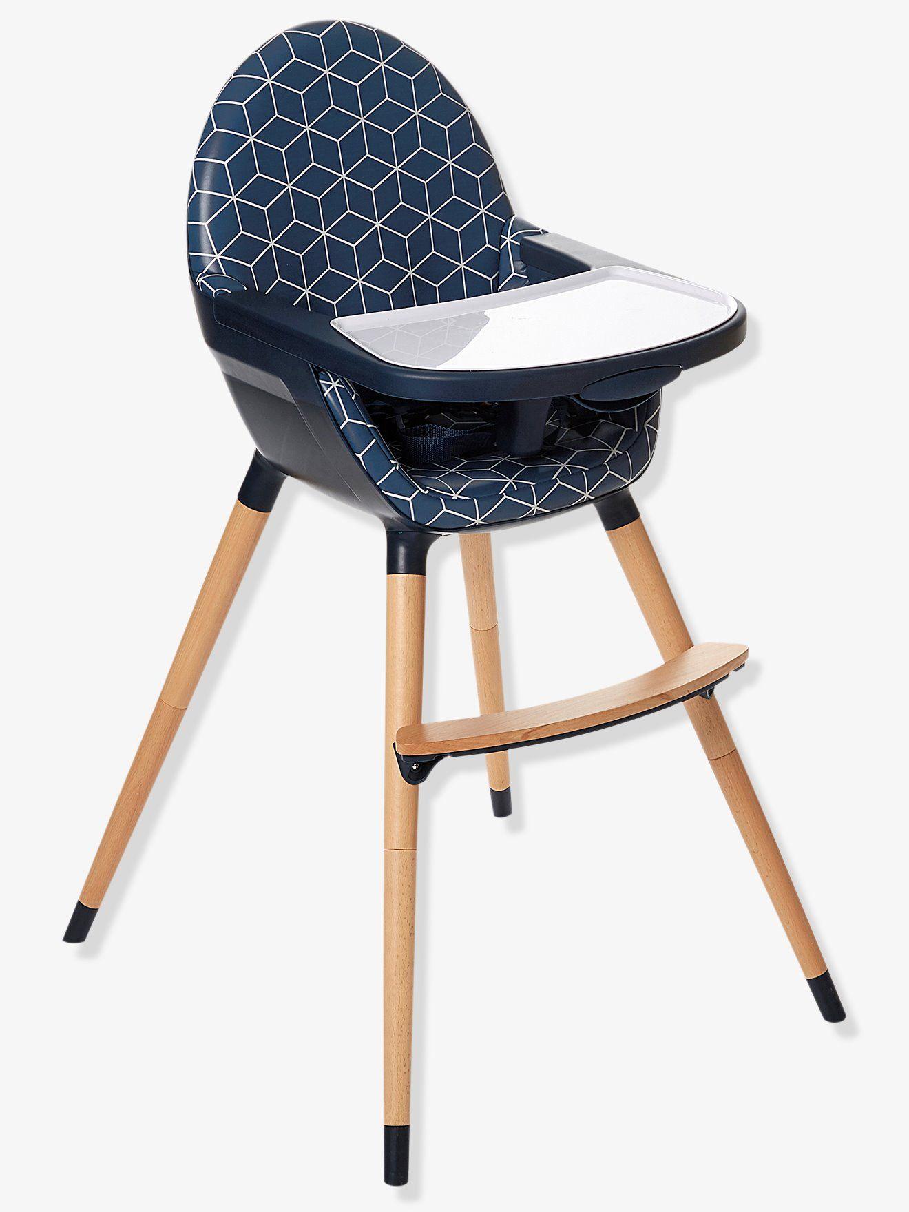 Chaise haute évolutive 2 hauteurs TopSeat bleu imprimé - Pratique et bien  pensée, cette chaise c60ab55eedb