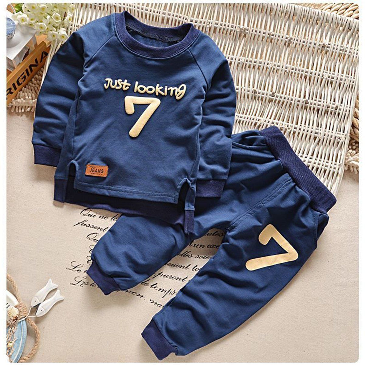 cc9f6726a Toddler Kids Baby Boy Girls Sweatshirt+Pants Sport Tracksuits Outfit ...