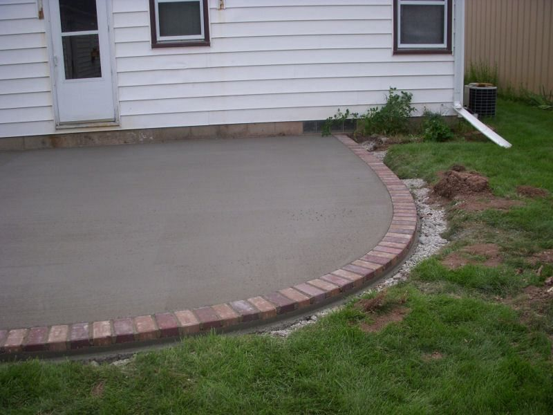 Cement And Brick Patio   Google Search