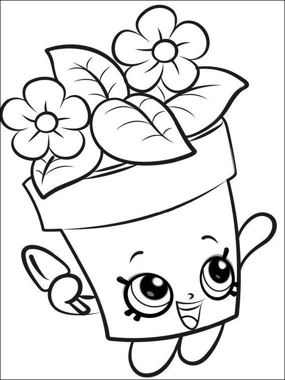 Dibujos para colorear para niños Shopkins 1 | PAOLA | Dibujos para