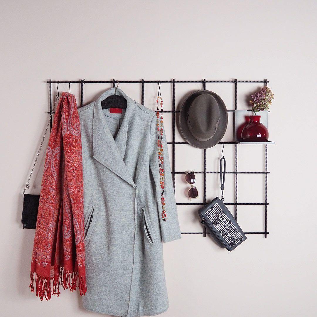 Garderobe Gitter viel platz für jacken taschen hüte und schlüssel das wandgitter