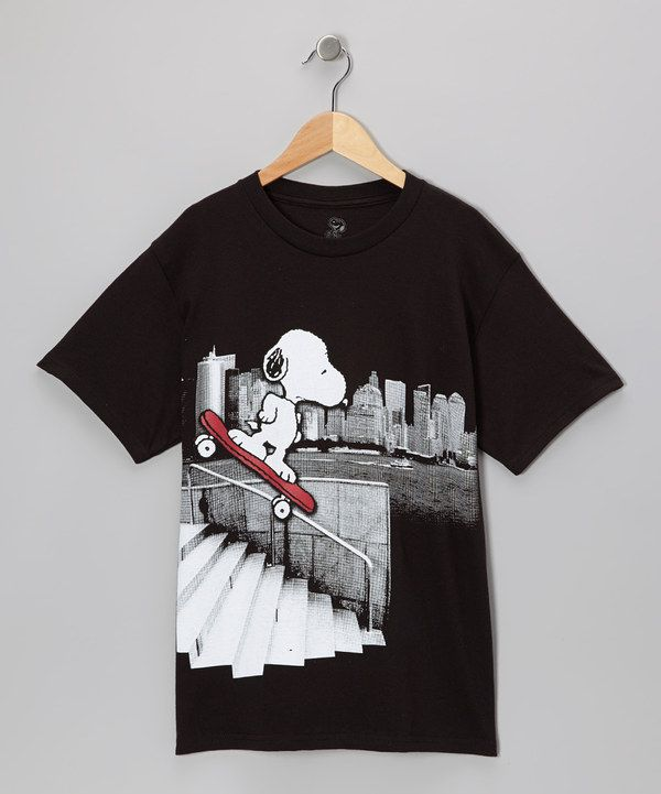 Take a look at this Black Snoopy Skater Tee - Boys on zulily today ... dadad73b57