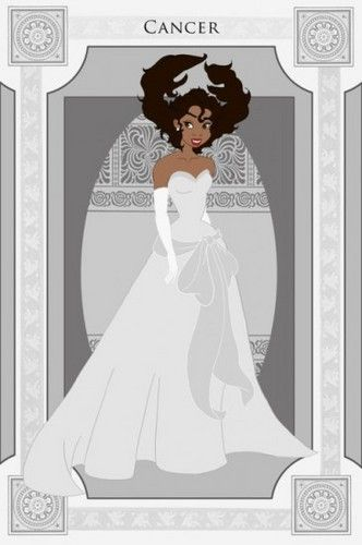 The signs of the zodiac, represented by Disney princesses: Cancer/Tiana