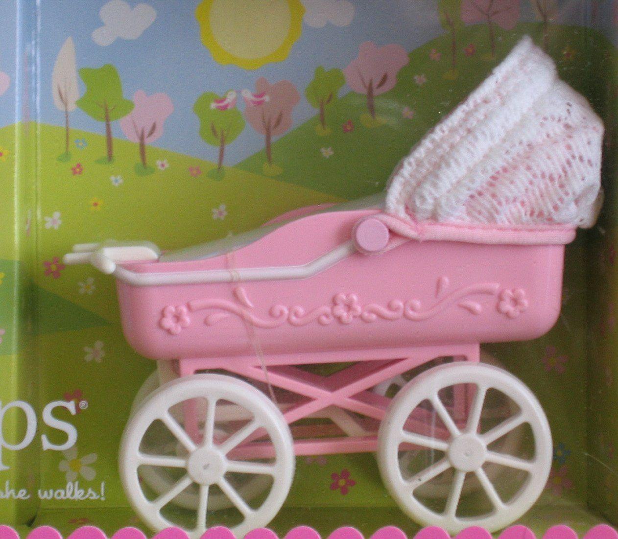 "Barbie KELLY Tiny Steps Doll & Carriage w ""Walking"" Kelly"