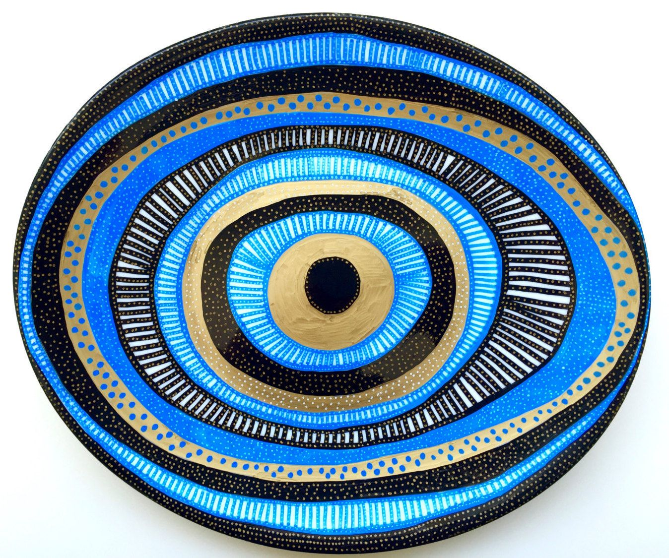 Evil eye decorative plate evil eye pinterest evil eye eye evil eye plate wall evil eye wall hanging decor blue evil eye original work decorative plate evil eye decor blue mandala decor by amipublicfo Gallery