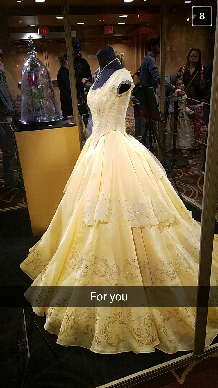 2017 New Movie Beauty and the Beast Belle Princess Cosplay Costume Ball Dresses