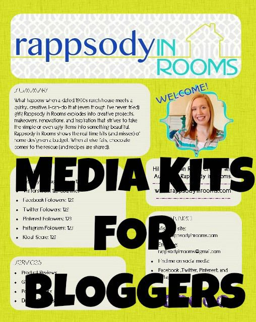 Make a media kit for your blog! Learn how to here! | www.rappsodyinrooms.com