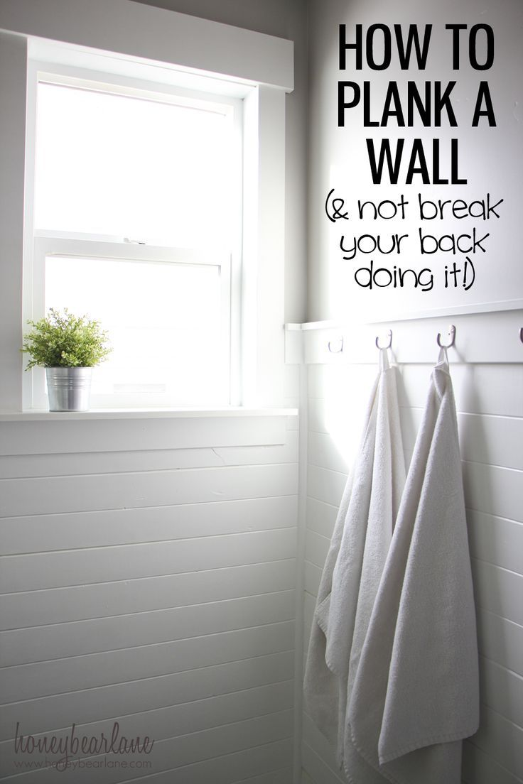 A Cozy Farmhouse Bathroom Update | Plank, Walls and White tile bathrooms