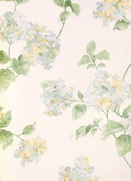 York Blue Yellow Hydrangea Wallpaper Oa4665 Hydrangea