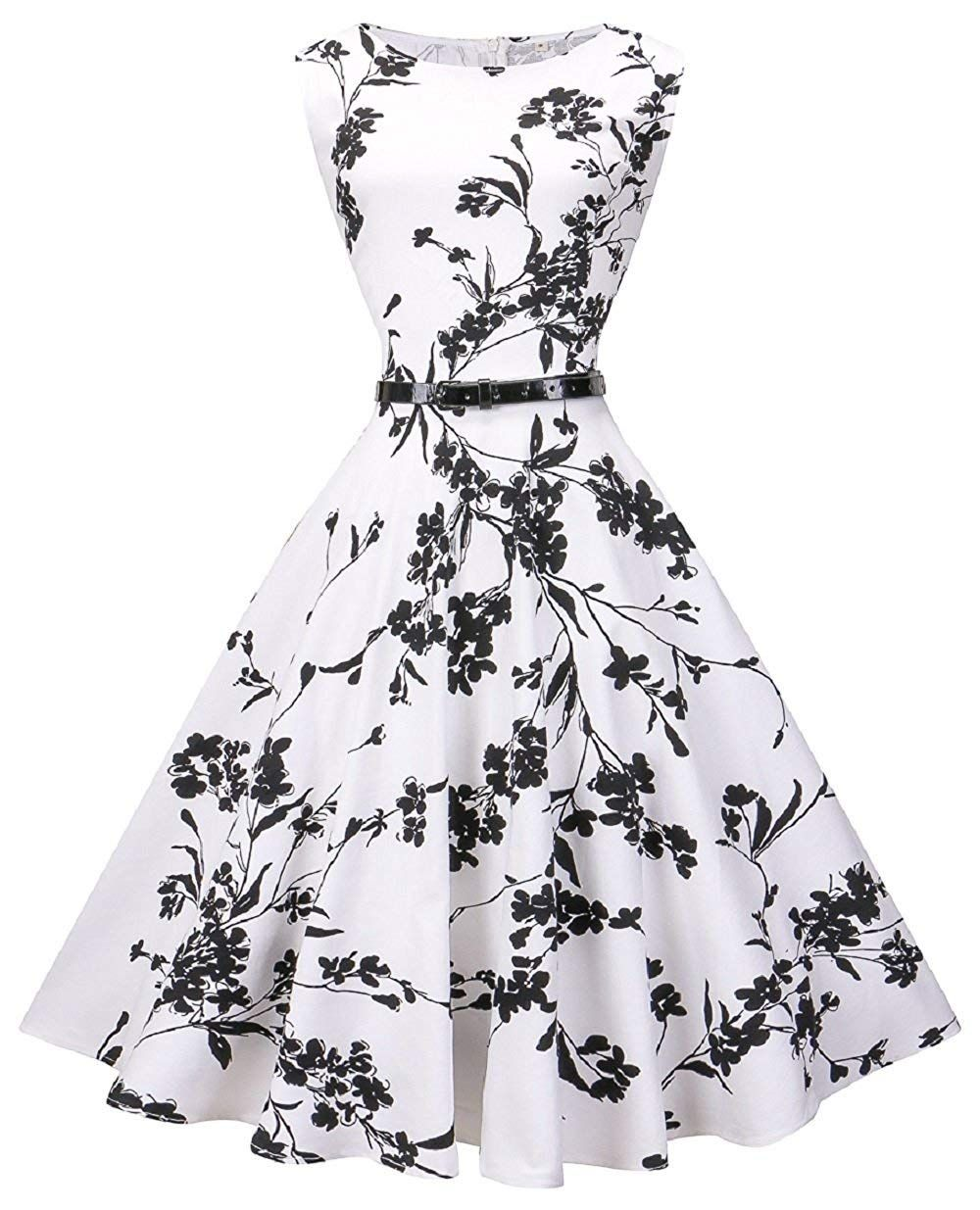 Amazon Com Lacelady Boatneck Vintage Sleeveless Tea Dress With Belt Pleated Swing Party Clothing Vintage Tea Dress Cute Prom Dresses Womens Cocktail Dresses [ 1235 x 1000 Pixel ]