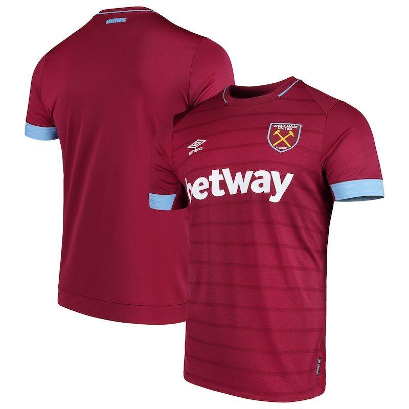 51d1ef0777 West Ham United Umbro 2018/19 Home Replica Jersey – Maroon ...