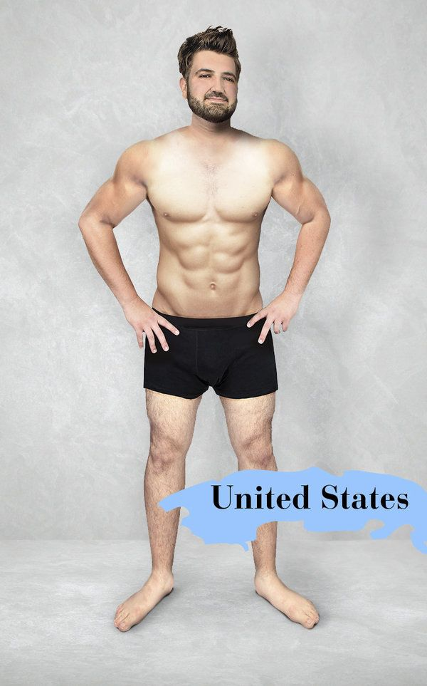 What The \'Ideal\' Man\'s Body Looks Like In 19 Countries   Pinterest