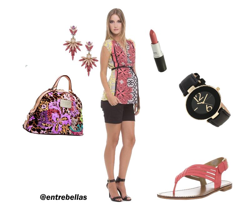 Para las chicas que están en la dulce espera, un excelente look, que puedes levar con calzado en tacones o bajos. http://www.entrebellas.com