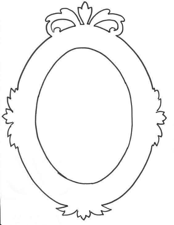 Oval frame Borders/Frames Pinterest Frame template, Printable