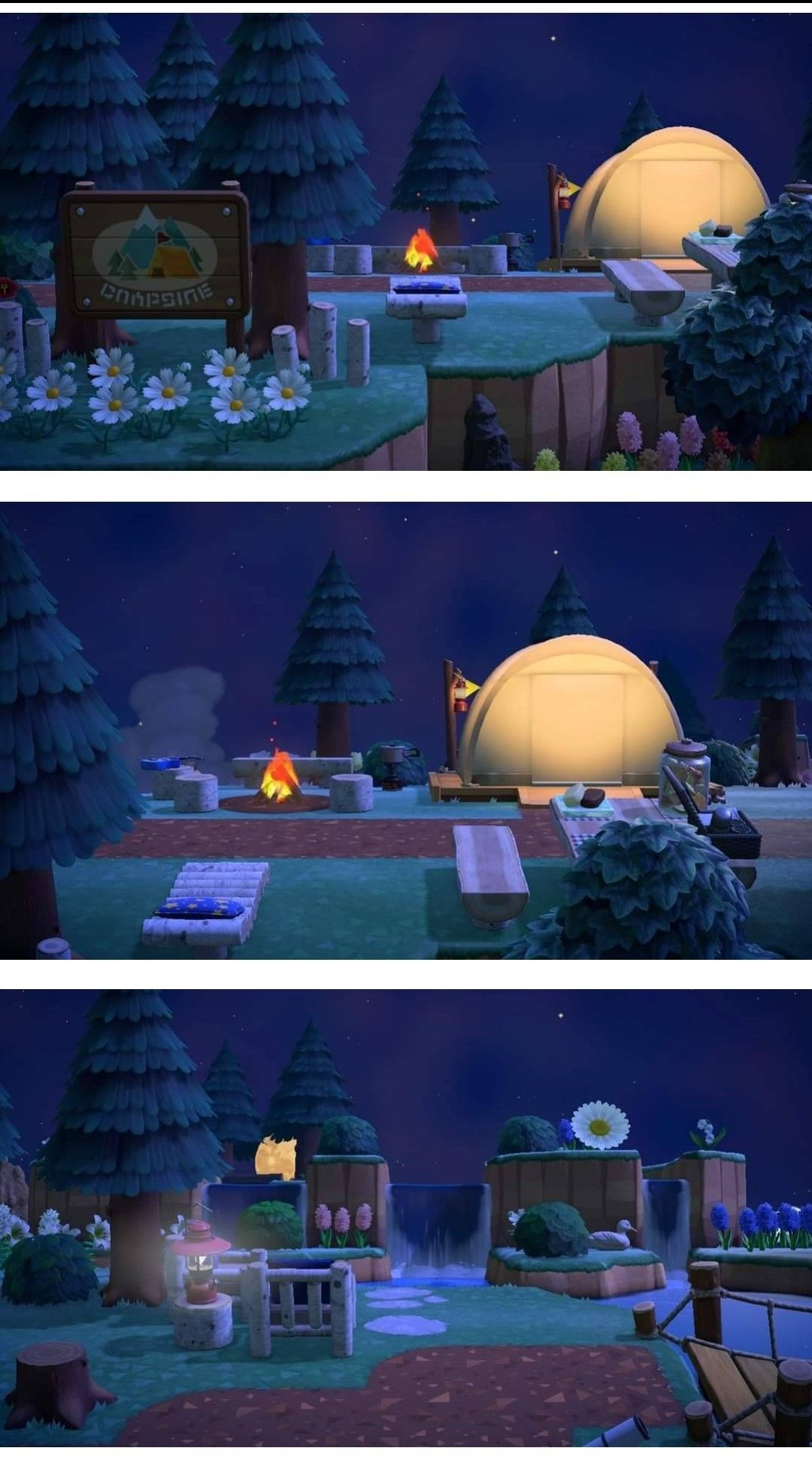 Campsite At Night In 2020 Rustic Theme Animal Crossing Outdoor Wedding