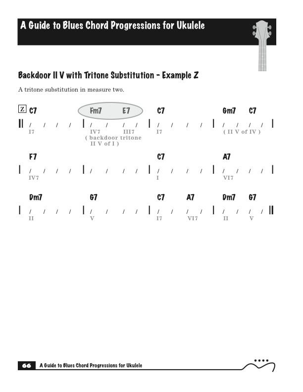 Ukulele Chord Progressions Blues Progression From My Book A