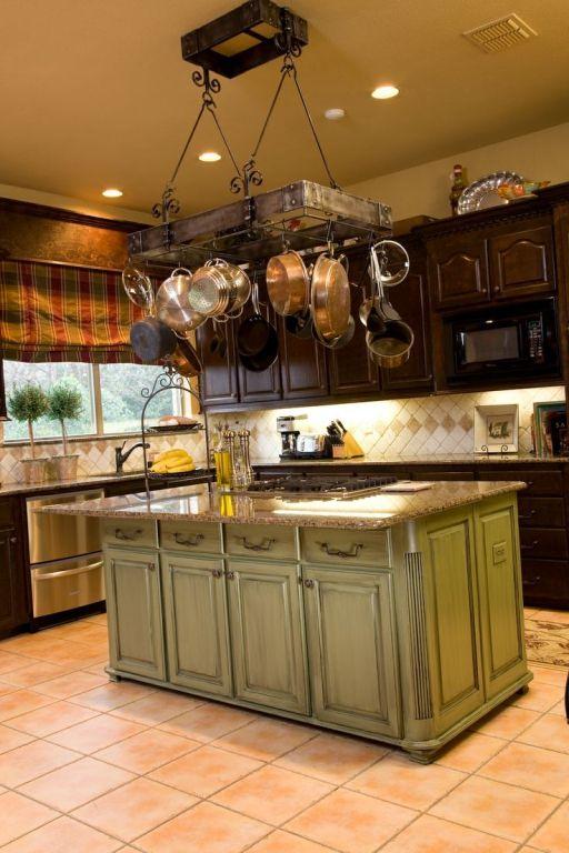 Iron Rod Kitchen Island With Pot Rack  1000 Design Home Inspiration Kitchen Pot Rack Design Decoration