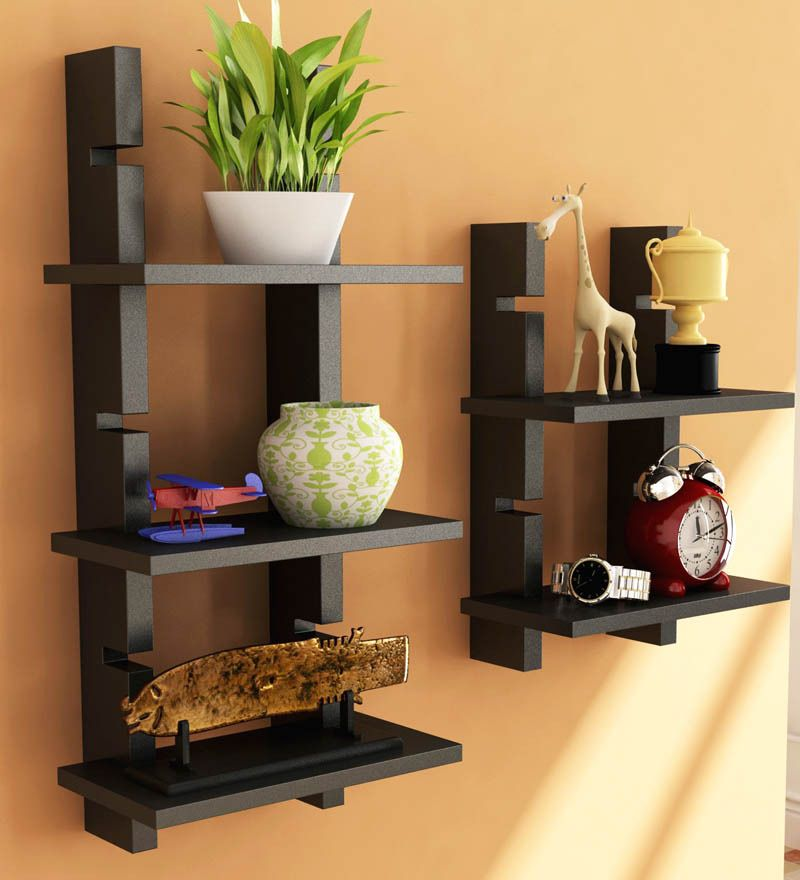 Home Sparkle Black Ladder Shelf by Home Sparkle Online - Wall ...