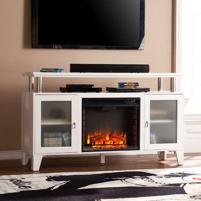 Latitude Run Borovany TV Stand with Electric Fireplace