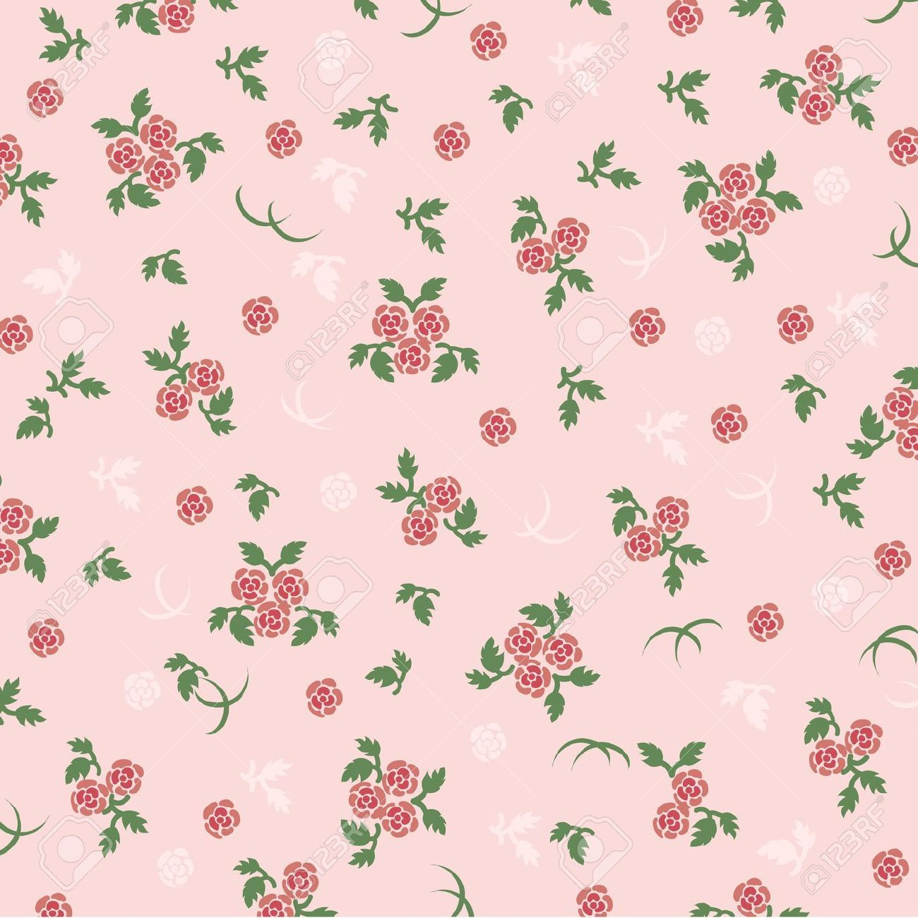 Pink roses vintage images hojas decoradas pinterest - Laminas decorativas para pared ...