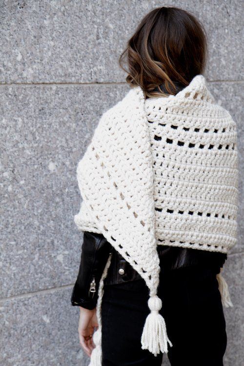 Louisa Wrap crochet pattern by Two of Wands // Triangle Scarf ...