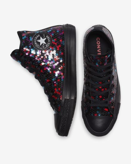 365c01b5287 Converse Chuck Taylor All Star Holiday Scene Sequin High Top Women s Shoe