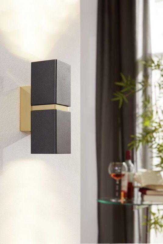wwwlampen-linede eglo-passa-wandleuchte-2-flg-gu10 - Moderne Wohnzimmerlampen