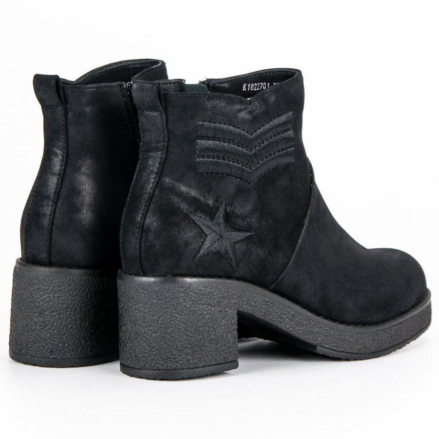0b01644d4071e Kylie Czarne Militarne Botki Damskie   Botki damskie   Boots, Shoes ...