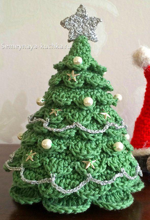 как связать елку крючком вязание игрушек вязание вязаные