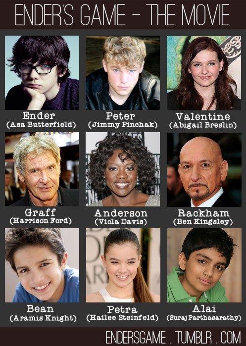 Looks Like A Fine Cast Harry Potter Pinterest Ender S Game