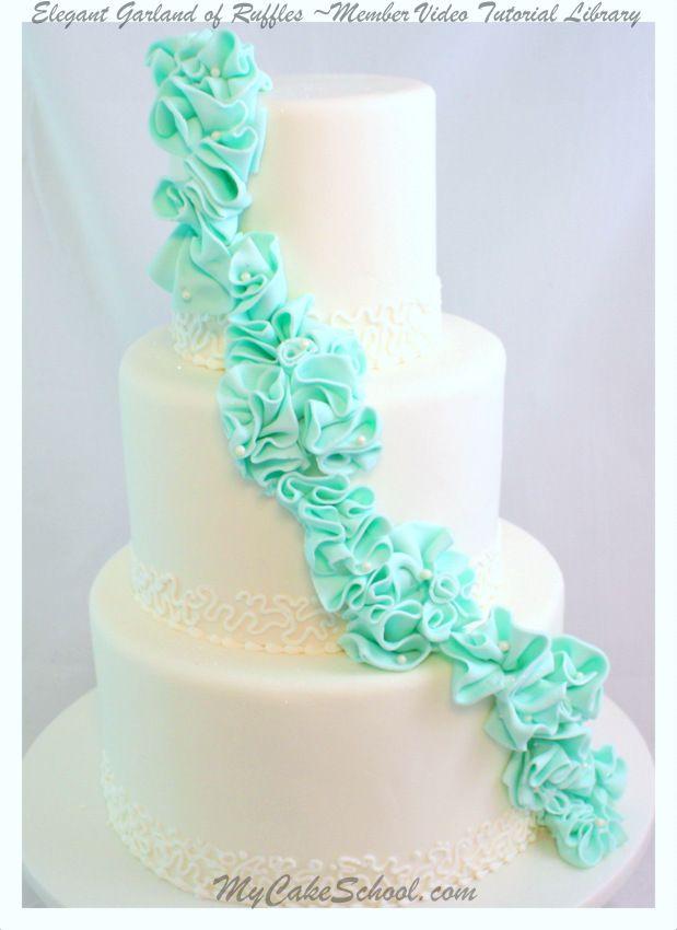 Elegant Garland of Ruffles--A Wedding Cake Video