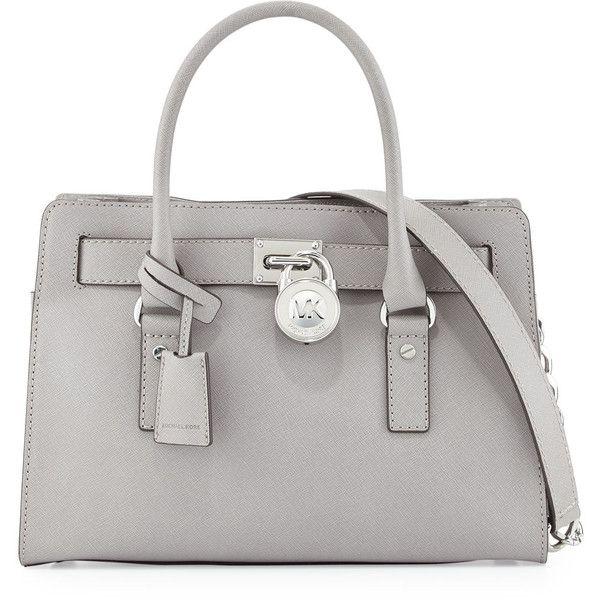 0ce40b46c96d MICHAEL Michael Kors Hamilton Saffiano Satchel Bag ( 298) ❤ liked on Polyvore  featuring bags