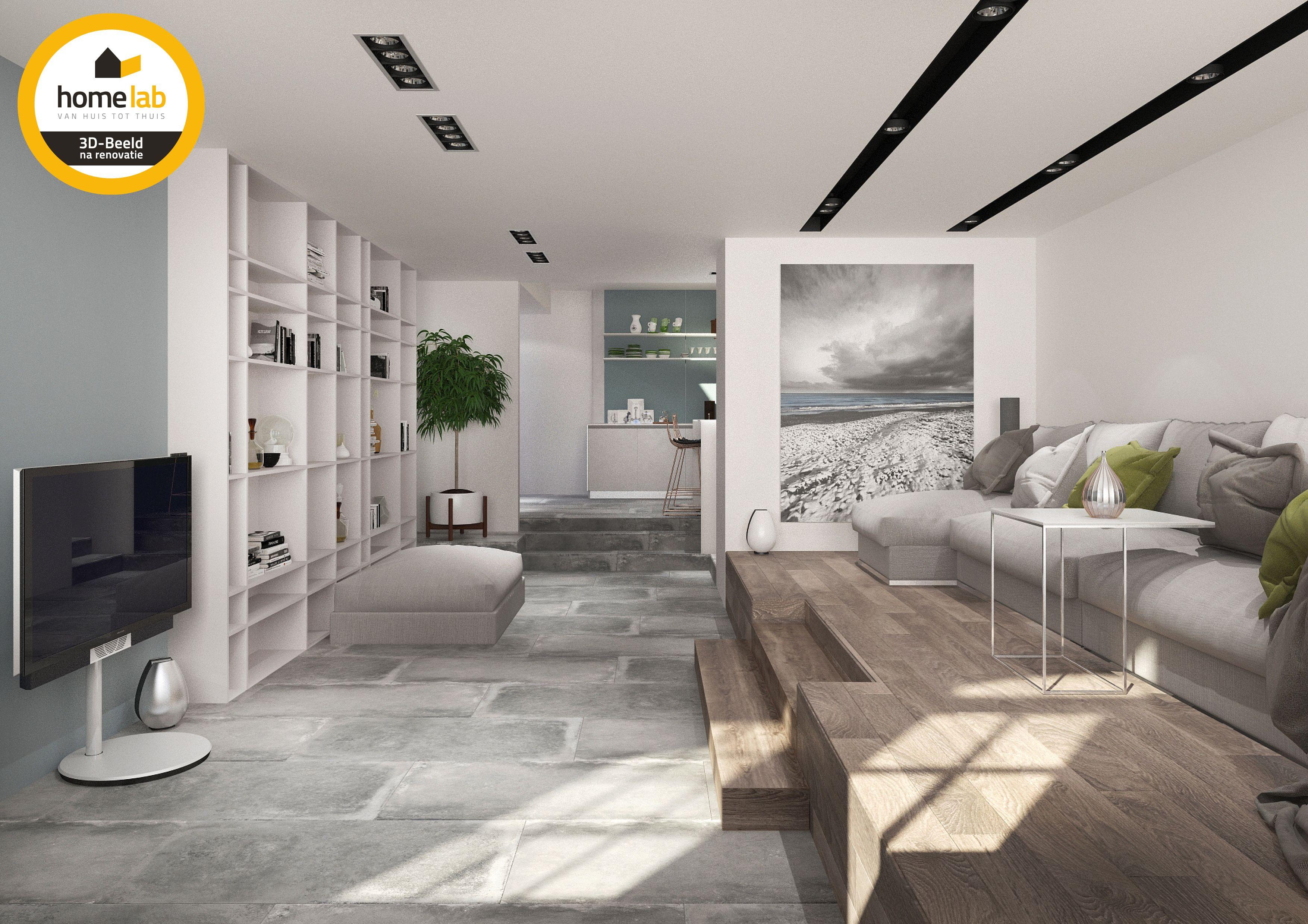 Gezellige woonkamer met hout afgewerkt #homelab #homelabprojects ...