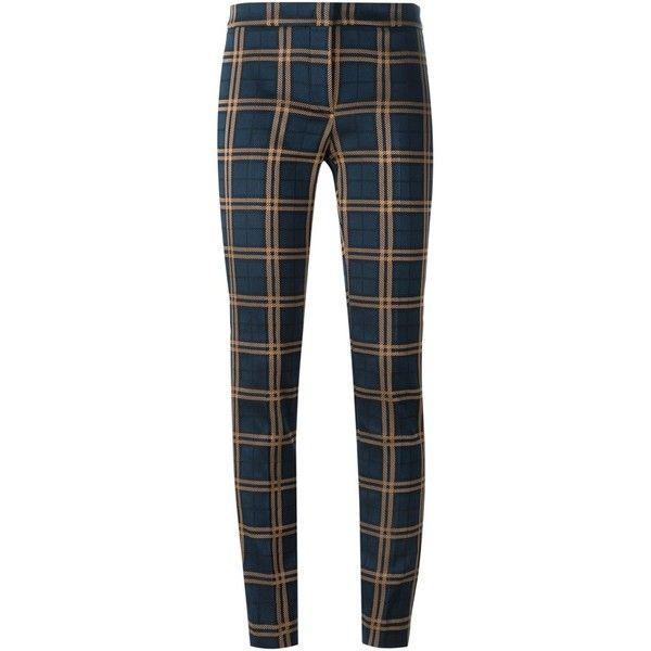 Pantalon Imprimé À Carreaux - Incotex Bleu EG2r4iJDg