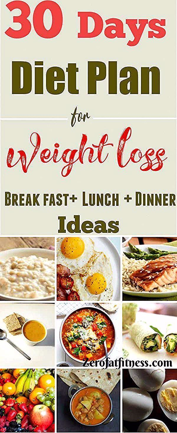 30 Days Diet Plan for Weight Loss  Healthy Meal Plan That Works The importance of healthy eating habits cannot be overemphasized This 30 days diet plan for weight loss of...
