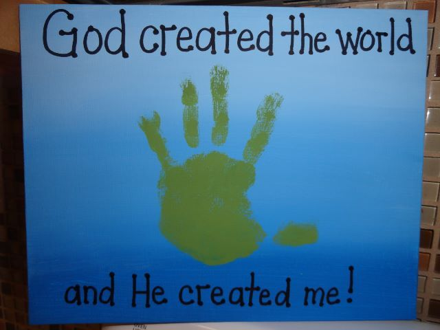 Izzie, Mac and Me: God Created Me Crafts! | Teaching stuff | Toddler